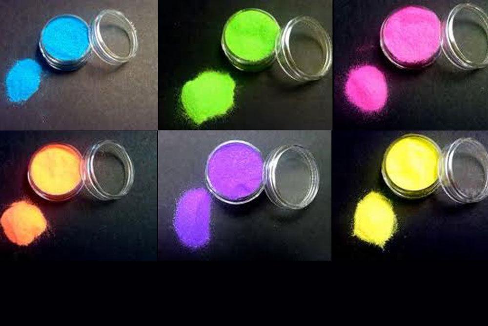 Fazmataz Neon Yellow Uv Blacklight Reactive Face and Body Glitter- .5oz