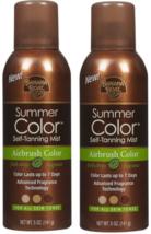 2 Banana Boat Summer Color Self-Tanning Mist 5 OZ - For All Skin Tones -... - $12.95