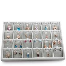 Oirlv Velvet Jewelry Tray 24 Grid Liner Pendant Earrings Organizer Stora... - $34.38