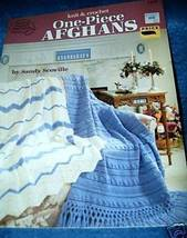 Knit & Crochet One Piece Afghans American School of Needlewo - $4.50