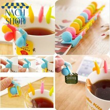 10Pcs Christmas Lovely Cute Snail Shape Silicone Bag Holder Cup Mug Cand... - $6.33