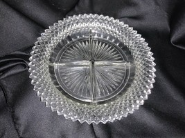 VINTAGE Anchor Hocking Clear Divided Round Candy Dish - $22.00