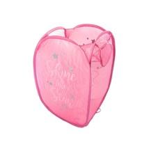 SHINE LIKE A STAR PINK SILVER FOLDAWAY POP-UP LAUNDRY BAG 36X36X58CM - $19.65