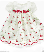 Bonnie Baby Girls Holiday/Party/Wedding 2 Pc Dress Set.  White Color,Sz1... - $25.99