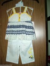 Kids Headquarters, Baby Girl Crochet 2 Pc Set  Tank&Capri 18 Months - $13.71