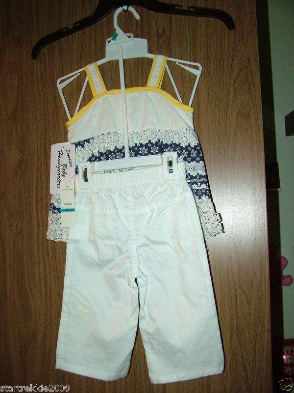 Kids Headquarters, Baby Girl Crochet 2 Pc Set  Tank&Capri 18 Months
