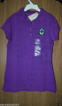 NWT ARIZONA Girl's Purple Polo Shirt,   Short Sleeves, Size Medium(10-12) - $9.29