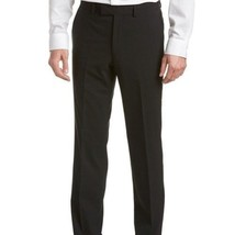 NEW!! Kenneth Cole Men's Precision Fit Dress Trousers Pants Black