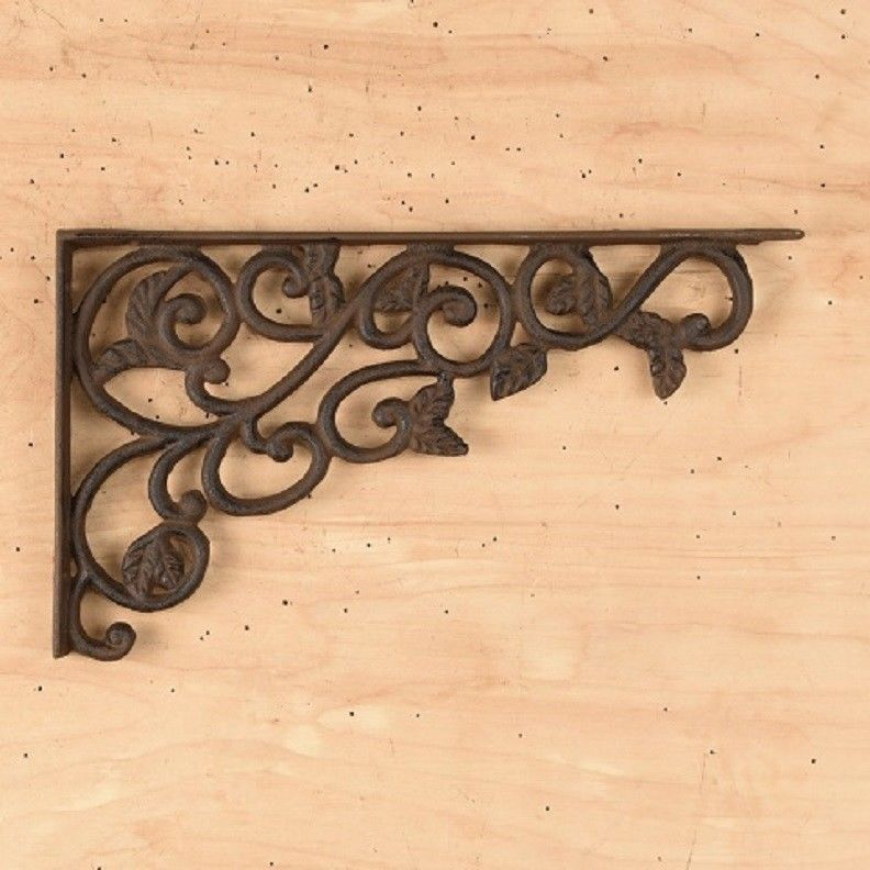 CAST IRON- Leaf / Shelf Bracket Set Of 2