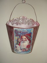 CHRISTMAS SANTA METAL TIN WALL HANGING DECORATION - $6.72