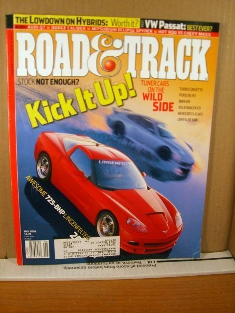 Road & Track Magazine May 2006, 725-BPH Lingenfelter