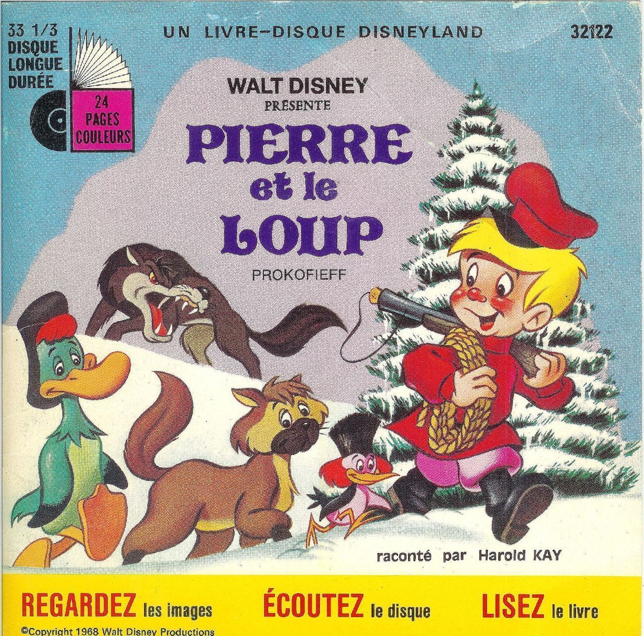 Primary image for Vintage Pierre et le Loup Disney Peter Wolf 33 LP Record Book French