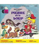 Vintage Pierre et le Loup Disney Peter Wolf 33 LP Record Book French - $9.93