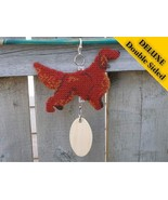 Irish Setter Deluxe crate tag double sided Hang... - $34.00