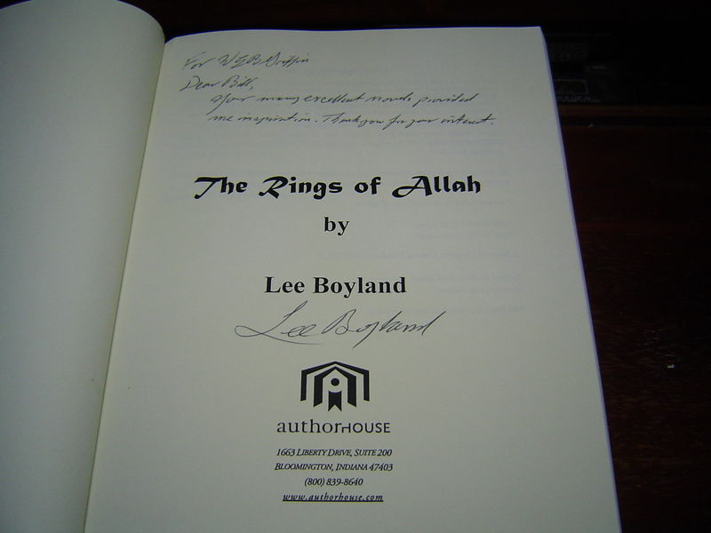 """""""SIGNED"""" The Rings Of Allah by Lee Boyland (2004) HARDCOVER"""