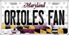 MLB Orioles Fan License Plate Novelty Metal State Background Baltimore ... - $12.82
