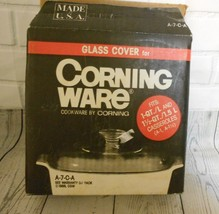 Corning Ware Glass Cover A-7-C-A I QT & 1 !/2 QT Made in USA - $18.46
