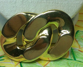"""Vintage Jewelry:; 2 1/8"""" Gold Tone Link Brooch 170901 - $8.99"""