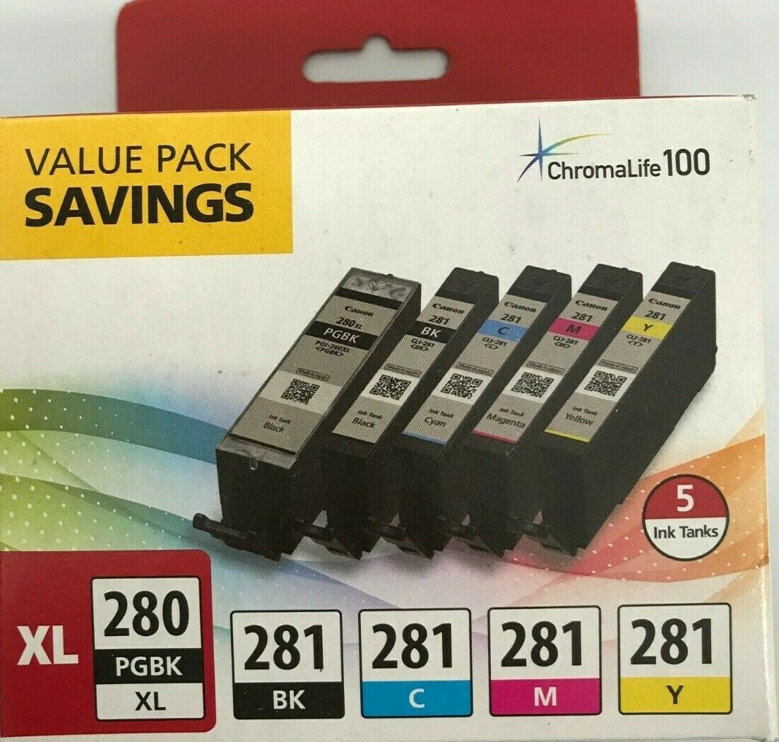 Primary image for Canon - PGI-280 XL/CLI-281- Ink Cartridge - Black Cyan Magenta Yellow Pigment Bk