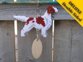 Irish Red and White Setter Deluxe crate tag 2 sided, hang anywhere, dog ... - $33.00