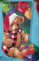 Bucilla Santa Bear Christmas Holiday Teddy Toys Needlepoint Stocking Kit... - $149.95