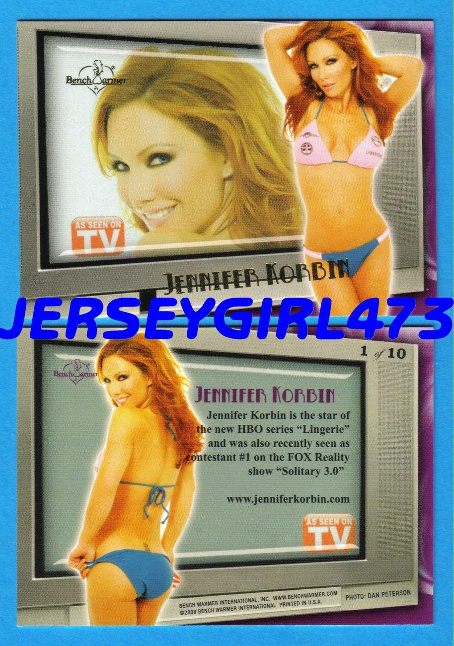 Jennifer Korbin 2009 Bench Warmer Limited Series As Seen On TV Insert Card #1