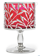 Bath And Body Works Vine Leaf Three Wick Candle Holder Pedestal New Sold Out - $31.90