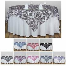 "Table Overlay 90""x90"" Wedding Reception Party Table Toppers TkVormart (N... - $25.74"