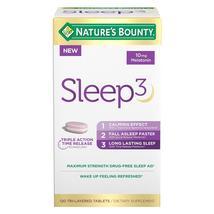 Nature's Bounty Sleep3 10mg. Melatonin, 120 Tablets - $32.59
