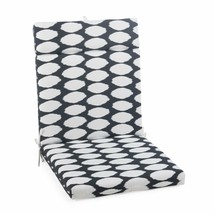 "Black Dots Outdoor Patio Chair Cushion Pad Hinged Seat Back 44"" L x 22"" W - $58.90"