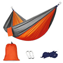 High strength nylon taffeta mixed colors Single outdoor hammock 600 lb - $11.25