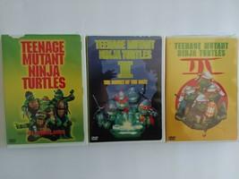 Original TMNT Teenage Mutant Ninja Turtles DVD Lot The Movie 1 2 3 - $15.83
