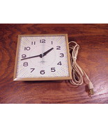 Retro 1970's GE Kitchen Brown Wall Clock, model 2149, General Electric - £7.56 GBP
