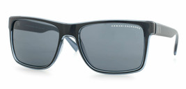 Armani Exchange Unisex Sunglasses AX4016 805187 Black Blue Grey Lens Square - $82.45