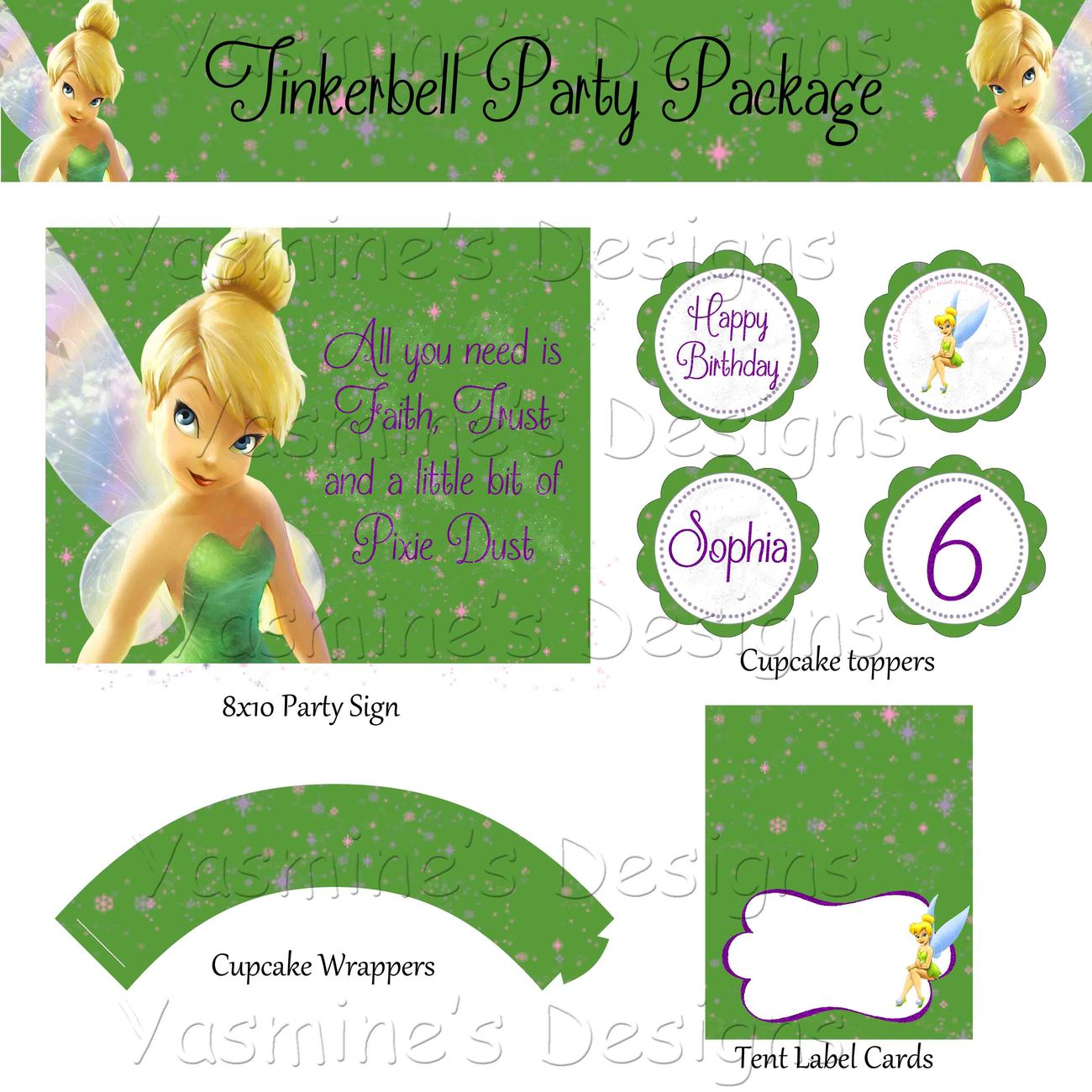 green tinkerbell printable invitations and similar items green tinkerbell printable invitations