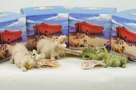4 Pete Apsit Holy Herd NOAH'S ARK Animals Croc Crockette Hippolit Hertha... - $52.73