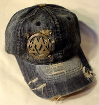 Denim Hat by Metallidz Washed Denim  NWT Free Shipping - $9.75