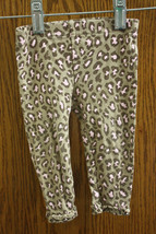 Child of Mine Brown Leopard Print Pants - Size 3-6 Months Girls - $6.99