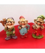 Set Of 3 Vintage Elves Figurines Or Gnomes Figures For St. Patrick's Day - $9.95