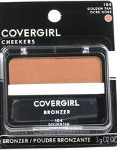 1 Covergirl Cheekers 104 Golden Tan 0.12 Oz Bronzers Soft Powdered Sun Kiss Glow - $13.99