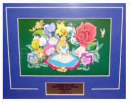 Alice in Wonderland and Flowers Authentic Disney Framed Pin set - $495.99