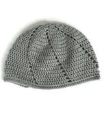 Crochet Kids Hat Betty Beanie Gray Ski Winter Fall Hat Cap Hand Made Cra... - $11.36