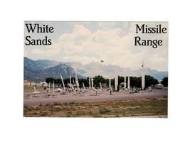 POSTCARD- WHITE SANDS MISSLE RANGE-FREE WORLD'S LARGEST MISSLE RANGE-NM.... - $1.94