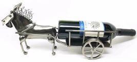 Stubborn Farm Donkey Pulling Cart Wheel Steel Metal Wine Bottle Holder  ... - $88.17