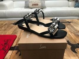 Christian Louboutin Galerietta Black Sandals New - $929.00