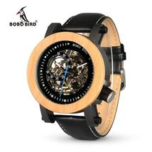 BOBO BIRD WK14 Mens Watches Brand Luxury Vintage Bronze Skeleton Male Ca... - $141.99