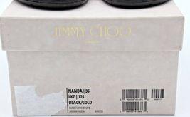 Neu in Box Jimmy Choo Nanda Nieten Schwarz Wildleder Rutschen Sandalen 6 36 image 8