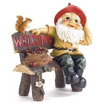 Welcome Sign Outdoor, Garden Gnome Home Garden Outside Porch Welcome Sig... - $43.59