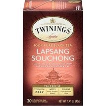 Twinings of London Lapsang Souchong Black Tea Bags, 20 Count Pack of 6 - $19.58