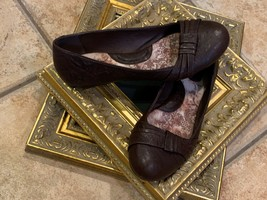 Born Chesire Ballet Flats Brown Leather 7.5 38.5 M Cap Toe Slip Ons D16606 Euc - $30.15